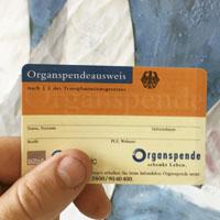 organspendeausweis karte Anwendungsgebiete: Selbstbedruckte Mitgliedsausweise, Kundenkarten