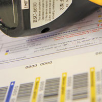 Variable Daten in Form von Barcodes