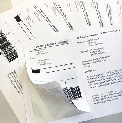 Integrierte Paketaufkleber Passend Für Dpd Dhl Hermes
